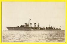cpa Carte Photo CHALOIS à BREST 1927 ESCADRE Navire Marine Militaire TORPILLEUR