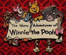 Disney The Many Adventures of Winnie the Pooh Dangle Logo w/ Bees Pin