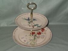 Noritake Country Diary of an Edwardian Lady 2-Tier Hostess Cake Plate Stand