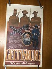 "RARE Paul Gallo Gettysburg ""You've got a Friend in Pennsylvania"" Poster 33 x 20"""