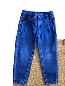 Reduced ! Girls Super Skinny Levis 710 Age 2 Stretch Denim Blue Nice Condition