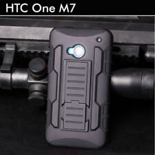 Rubber Soft TPU HTC One M7 Case Armor Tough Shockproof Cover