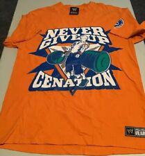 WWE John Cena Cenanation Adult Unisex Graphic T-Shirt Size M Orange