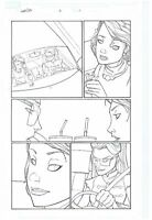 ORIGINAL ART PAGE OF WASP AND NAMORA BY CRAIG ROUSSEAU HER-OES #2 PAGE #11