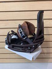 Brand New Burton Malavita Leather EST Men's Snowboard Bindings Size Medium