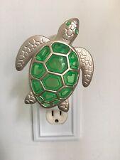 Bath & Body Works Wallflowers Fragrance Plug Sea Turtle Green Silver Beach Ocean