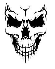 Skull vinyl car Decal / Sticker