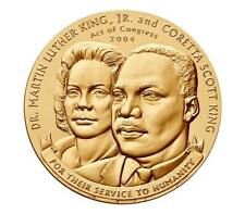 Dr. Martin Luther King, Jr. and Coretta Scott King Bronze Medal 1.5 Inch