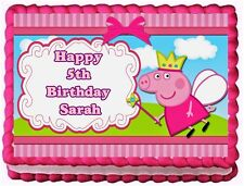 PEPPA PIG EDIBLE CAKE TOPPER BIRTHDAY DECORATIONS