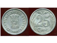 CHAMBRE DE COMMERCE D'EVREUX  25  centimes 1921