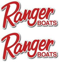 2X RANGER BOATS DECAL STICKER 3M US MADE TRUCK CAR FISHING BASS COMPETITION