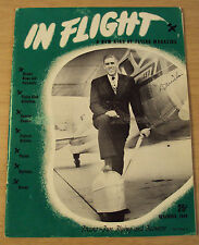 "RARE 1949 ""IN FLIGHT"" Magazine~Airplane/Flying~FRESNO CA Features~Chandler Field"