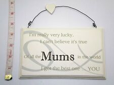 Lucky Mums Wall Plaque Christmas Gift Ideas for Her,  Mum & Mother