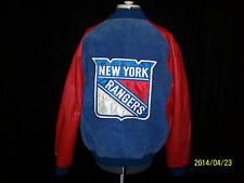 New York Rangers NHL Vintage Bomber Jacket Leather Suede Large
