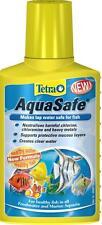 Aquarium Treatment Tetra Aquasafe 100ml Makes Tap Water Safe For Fish Cold Warm