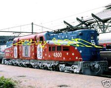 """Conrail GG1 # 4800 Bicentennial Paint  8"""" x10"""" Photo"""