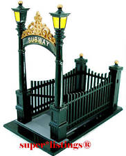 Dept. 56 City Subway Entrance Metal Green/Gold Trim Christmas in the City 55417