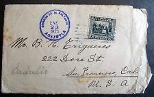 Salvador Cover Agajutla 1925 To San Francisco