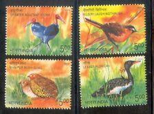India 2006 Endangered Birds of India Fauna Plants stamp set 4v MNH