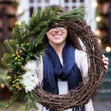 Christmas Natural Dried Rattan Wreath Garland Home Door Wall DIY Hanging Decor