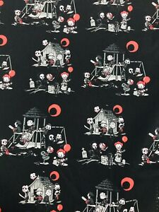 Horror Fabric Freddy Jason Pennywise 1/4 Yard