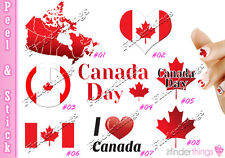 Canadian Canada Flag Canada Day Nail Decal Stickers CAN901