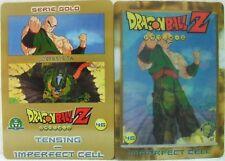 """Dragon Ball Z  """"Tensing-Imperfect Cell"""" Giochi Preziosi serie GOLD n° 46 lentico"""