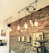 INDUSTRIAL 3 X HANGING KILNER JARS LIGHTS CEILING VINTAGE LAMPS CAFE BARN PUB