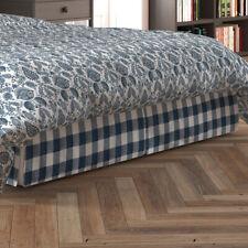 Carolina Linens Tailored Bedskirt in Anderson Italian Denim Blue Buffalo Check