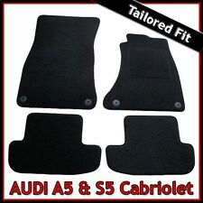 Audi A5 Convertible Mk1 2007-2016 Tailored Fitted Carpet Car Floor Mats BLACK