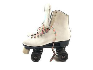 Vintage Dominion Canada Ladies White Roller Skates Size 7