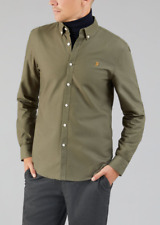 Farah Vintage Shirt - Brewer - Slim Fit - Military Green - F4WS4054 - RRP £59.95