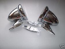 FORD ESCORT MK1 MEXICO RS2000 TWIN CAM CHROME BULLET RACING DOOR MIRROR x2 7A5