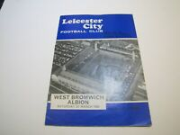 1968 Leicester City vs West Bromwich Albion Football Programme