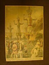 Retrocopertina Domenica del Corriere 1923 Lahore India Simulacri Ravna Ceylan