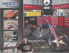 "2014 PAUL JR ""GEICO US ARMED FORCES MOTORCYCLE"" NON NASCAR MOTORCYCLE POSTCARD"