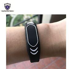 New RFID Wristbands EM4100 125KHZ Silicone bracelet black adjustable (pack of 2)