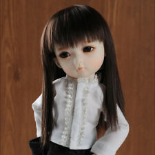 [Dollmore] doll wig fit 1/6 bjd Yosd Doll Size (7) Kl Bangs Straight (D.Brown)