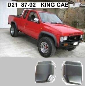 FITS NISSAN D21 KC P/U UTE 4WD MODEL 1987 92 FRONT BUMPER END CAP PAIR RH LH NEW