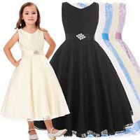 Flower Girl Princess Dress Kid Party Pageant Wedding Bridesmaid Tutu Dresses New