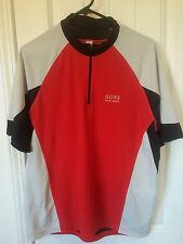 Gore Men's Cycling Jersey Large Short Sleeve Cycling Jersey Bike Wear Red Silver