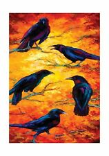 Toland Home Garden  Dusk Crows 28 x 40-Inch Decorative USA-Prod... Free Shipping
