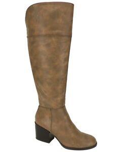 Madden Girl Women's Wendiee Tall Boots Cognac Size 10 M