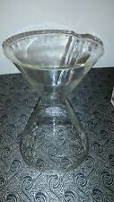 "LARGE 9 1/2"" TALL REPLACEMENT CHEMEX PYREX COFFEE MAKER POT GREEN MARK  2411340"