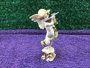 Depose Italy 261 Cherub With Flute Resin Figurine Collectable Home Decor