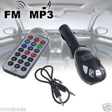 ON SALE ! LCD Wireless FM Transmitter Car Kit MP3 Player Support USB SD MMC Slot