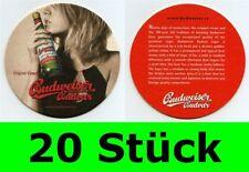 20 Stück Bierdeckel Budweiser Budvar Tschechien für Bar  Party Theke Tresen