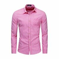 Casual New Stylish Dress Shirts Slim Fit Fashion Casual Mens Luxury Long Sleeve