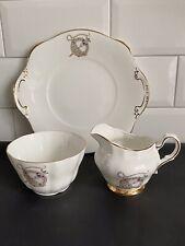 More details for royal tara fine bone china tara brooch jug, bowl & cake plate