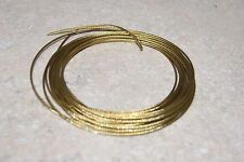 15 FT BRASS CABLE FOR TUBULAR / GRANDFATHER CLOCKS  5/64 NEW WALL CLOCK PART